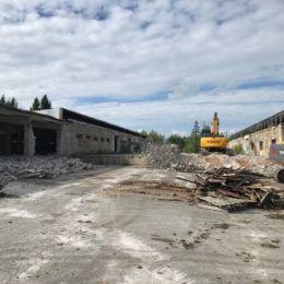 Laohoonete lammutustööd Viljandis